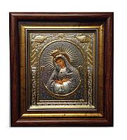 Остробрамская икона Божией Матери под стеклом с позолотой 233 х 257 мм.