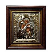 Икона Святое Семейство серебряная Silver Axion (Греция) 233 х 257 мм.