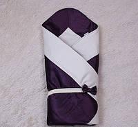 Конверт-одеяло на выписку для малышей Beauty(сиреневый)