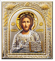 Икона серебряная Спаситель на деревянной основе с позолотой 208 х 245 мм.