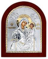 Икона Божией Матери Скоропослушница с позолотой Silver Axion (Греция)  85 х 100 мм