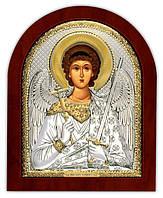 Ангел Хранитель серебряная икона с позолотой, на деревянной основе Греция 260 х 310 мм