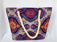 Пляжная текстильная летняя сумка для пляжа и прогулок Восточный узор