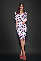 Женское шифоновое платье с принтом