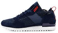 Мужские кроссовки Adidas Originals Runner (Адидас Ориджинал) темно-синие