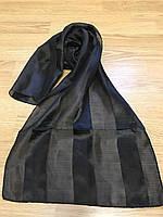 Шарфы атласные чёрного цвета