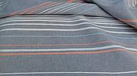 Льняная ткань для постельного белья в полоску (шир. 220 см)
