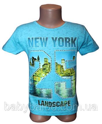 "Футболка подросток меланж ""New York"" (от 5 до 8 лет)  , фото 2"