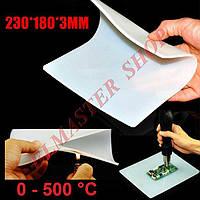 Темрмостойкий силиконовый коврик, мат для паяльных работ 0-500 ºС