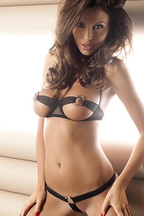 Сексуальный комплект с открытой грудью | эротическое белье Anais