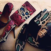 Наборы рептилия: сумки, кошельки, туфли, сабо