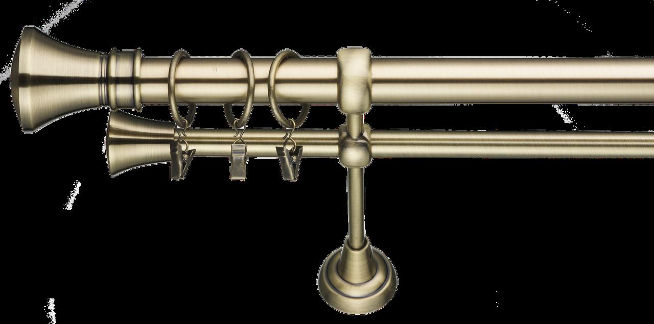 Карниз кованный (комплект) 1.6 м двойной 25 мм диаметр