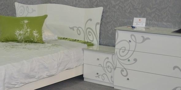спальня Богема глянцева біла
