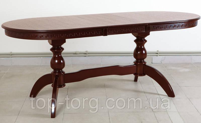 Стол обеденный Оскар Версаче, 160(+40)х90см, раскладной, венге, темный орех.