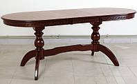 Стол обеденный Оскар Версаче, 160(+40)х90см, раскладной, темный орех.