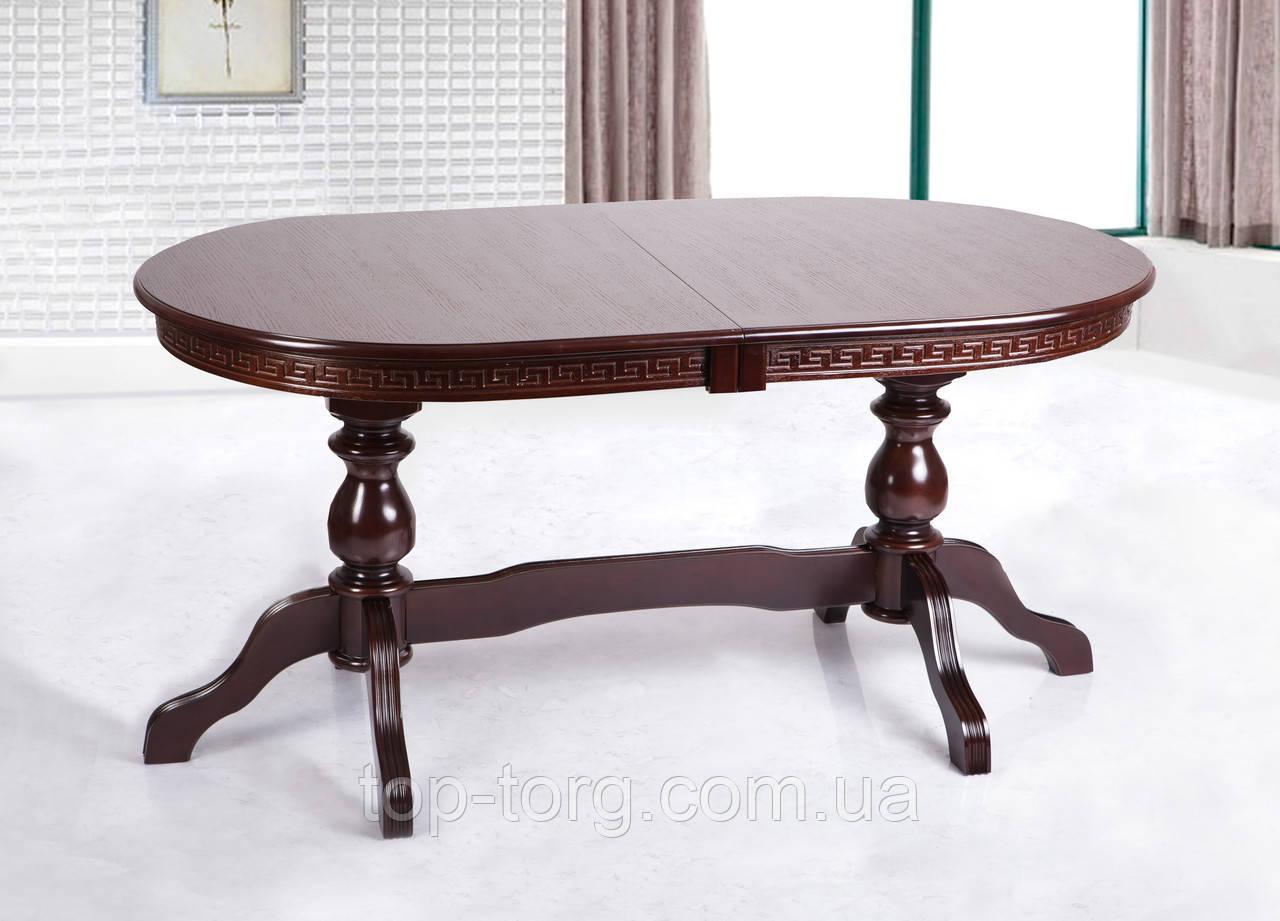 Стол обеденный Оскар Люкс, 160(+40+40)х90см, венге-шоколад.