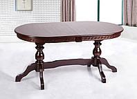 Стол обеденный Оскар Люкс, 160(+40+40)х90см, темный орех, венге-шоколад.
