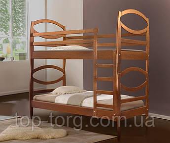 Кровать Виктория, 2-х ярусная, двухъярусная, цвета: ольха, яблоня