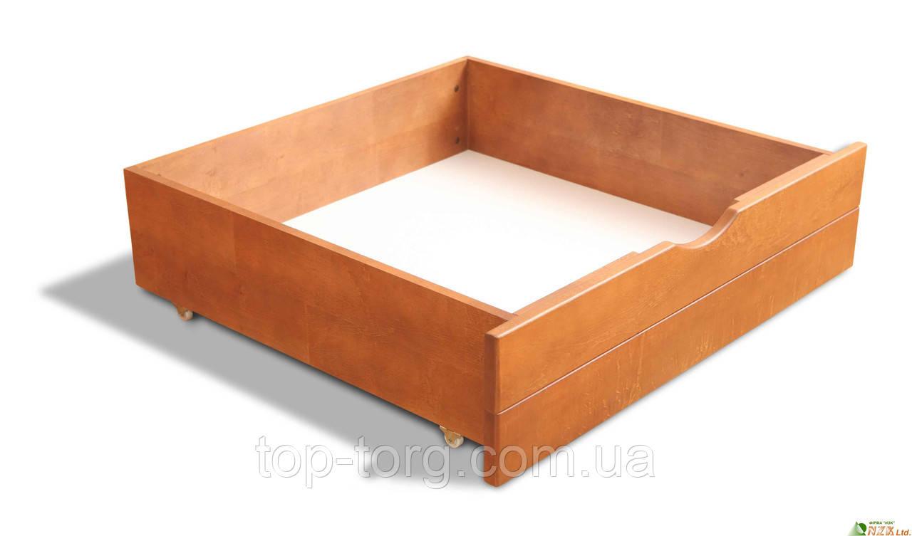 Ящик для білизни, під ліжко, вільха, на коліщатках