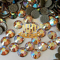 Стразы Preciosa (Чехия) Цвет Light Peach AB ss16(4mm) Горячая фиксация.Цена за 100шт