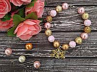 """Бусы для девочек """"Карета принцессы"""" (ожерелье, кулон, бижутерия)"""