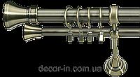 Карниз кованный (комплект) 2 м двойной, 25 мм диаметр