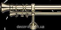 Карниз кованный (комплект) 2,40 м двойной 25 мм диаметр