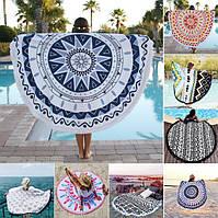 Круглое полотенце для пляжа, для занятий йогой или для пикника.