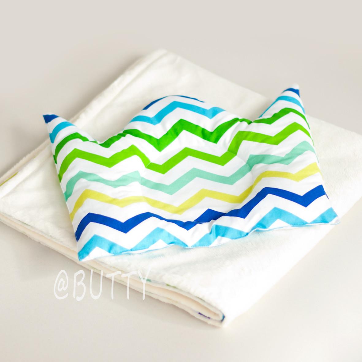 Конверт -одеяло на выписку и подушка для новорожденного
