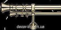 Карниз кованный (комплект) 3 м двойной 25 мм диаметр