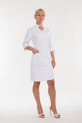 Жіночий медичний халат білий 40-60