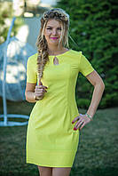 Желтое льняное Платье Камилла