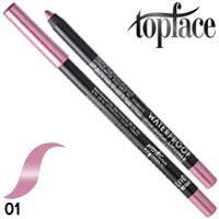 TopFace - Карандаш для губ PT-606 водостойкий Тон 01 pearl lilac перламутр