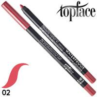 TopFace - Карандаш для губ PT-606 водостойкий Тон 02 pink coral матовый