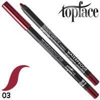 TopFace - Карандаш для губ PT-606 водостойкий Тон 03 pink plum матовый
