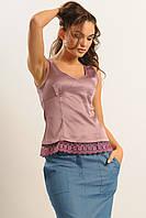 Лиловая женская блуза  Линжери-Слим  ТМ Ри Мари 42,46 размеры