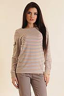Женская блуза в полоску Баффи  ТМ Luzana 42-52 размеры