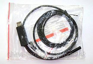 Технический эндоскоп,  Endoscope USB камера бороскоп, защищенная  - 2 метра., фото 3