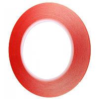 Двухсторонний скотч ширина 2мм красный