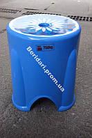 Табурет турецкий  голубой мега прочный 750 кг ,плотный пластик (Разные цвета )