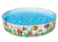 Круглый каркасный бассейн для детей Intex 56453 Солнечные рыбки, объем 2089 л, 244х46 см, винил, 4 кг