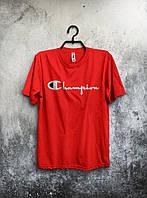 Красная мужская футболка Champion, красная.