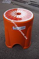 Табурет турецкий  Оранжевый мега прочный 750 кг ,плотный пластик (Разные цвета )