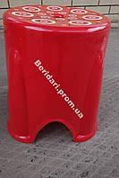 Табурет турецкий  красный  мега прочный 750 кг ,плотный пластик (Разные цвета )