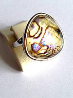 Серебряное кольцо с халиотис и цирконий