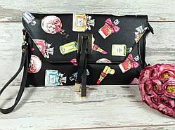 Женская сумка клатч с рисунком