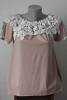 Блуза з мереживом біля горловини - 2, фото 1