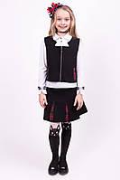 Костюм для девочки в школу юбка+жилетка