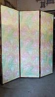 """Ширма из бамбука 170х150см  """"Цветы""""в пастельных тонах"""
