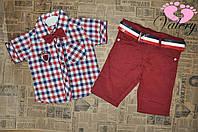 Костюм на лето для мальчика. Рубашка в клетку + шорты